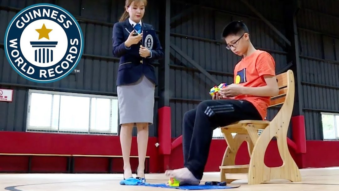 Can You Solve A Rubik's Cube... with Your Feet?